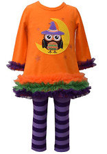 Bonnie Jean Girls Halloween Owl Witch Fall Knit Dress Leggings 12M 18M 24M