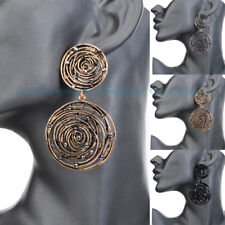 Vintage Jewelry Vintage Gold Silver Round Circle Dangle Stud Chanderlier Earring
