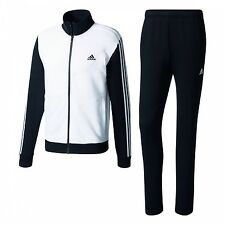 adidas COTTON RELAX Tracksuit Tracksuit BR6801 White / Black