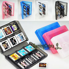 For Nintendo DS 3DS XL DSi New 28 in 1 Game Card Case Holder Storage Clear Box
