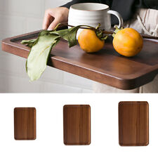 S/M/L Wooden Serving Tray with Handles Home Serving Tea Breakfast Platters