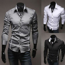 2017 New Fashion Mens Luxury Long Sleeve Casual Slim Fit Stylish Dress Shirts
