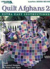Quilt Afghans 2 ~ Extra Easy Instructions crochet patterns OOP new