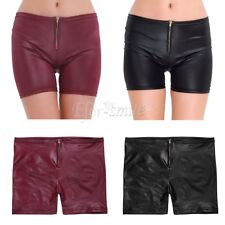 Women Ladies Faux Leather Stretchy Safety Underwear Shorts Pants Short Leggings