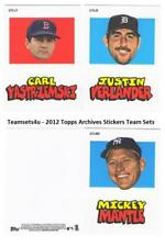 2012 Topps Archives Stickers Baseball Set ** Pick Your Team **