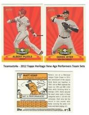 2012 Topps Heritage New Age Performers Baseball Set ** Pick Your Team **