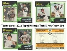 2012 Topps Heritage Then and Now Baseball Set ** Pick Your Team **