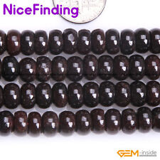 """Natural Gemstone Rondelle Red Garnet Heishi Spacer Beads For Jewelry Making 15"""""""