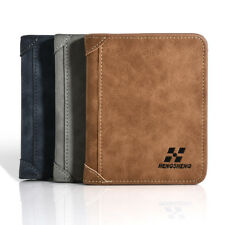 Men Leather ID Credit Card Holder Clutch Bifold Coin Purse Wallet Pockets 1 PCS