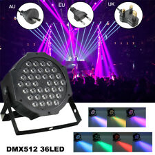 72W RGBW Sound Active LED Par Stage Strobe Solar Light DMX-512 Party DJ Disco