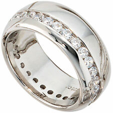 Silver Ring Ladies Rings With Cubic Zirconia, 925 Genuine Silver Sterling silver