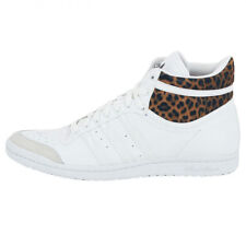 ADIDAS TOP TEN HI SLEEK W WOMEN'S LEATHER SHOES TRAINERS WHITE NEW m20833