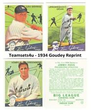 1934 Goudey Reprints Baseball Set ** Pick Your Team **