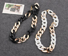 Vogue Lady Jewelry Gold Thick Metal Alloy Sweater Collar Chain Pendant Necklace