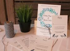Magpie Personalised Wedding Invitations: Day Evening Invites RSVP Envelopes
