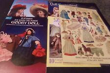 Lot 6 Dolls Books & Paper dolls Doll Costuming Doll Designs Godey Doll  House