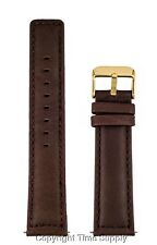 18 mm BROWN CALF LEATHER PADDED WATCH BANDSTRAP NEW SQUARE END