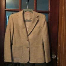 "VINTAGE 1970's Cream Tweed Womens Blazer/Jacket  S-4 by ""EVAN-PICONE""  100% Wool"