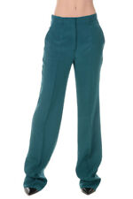 PRADA New Woman Green Silk Pants Trousers Made in Italy Original NWT