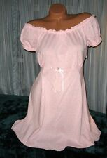 Pink 2 Piece Babydoll Nightgown & Panty M Short Gown Soft