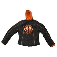 WOMENS MOTORCYCLE EMBROIDERED JACKET PINK w/ ZIP-OUT HOOD - CLOSEOUT SALE - K2F