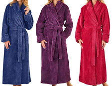 Womens Slenderella Waffle Fleece Dressing Gown Ladies Super Soft Wrap Bath Robe