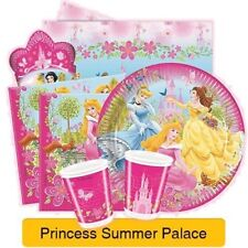 DISNEY PRINCESS Summer Palace PARTY RANGE (Tableware/Wrap/Stickers/Decorations)