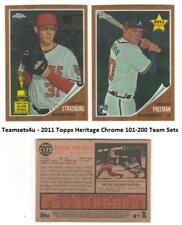 2011 Topps Heritage Chrome (101-200) Baseball Set ** Pick Your Team **