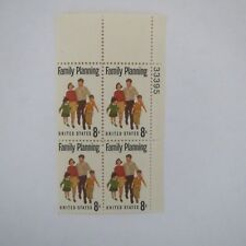 "VINTAGE ""FAMILY PLANNING"" 8 Cent MUH Block 4 US Postage Stamp"