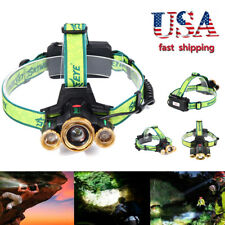 3X XML T6 LED Headlamp Zoomable 36000LM Headlight Torch Lamp Adjustable Focus TK