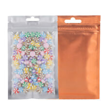 Flat Clear/Silver/Orange Mylar ZipLock Bag Butterfly Hang Hole Variety QTY Sizes