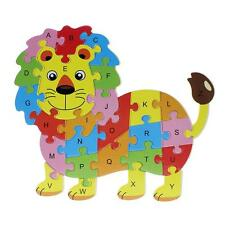 Lovely Kids Children Funny Alphabet Puzzle Colors Cartoon Animal Wooden Toy Gift