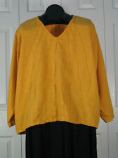 Starburst Long Sleeve Flax Linen Top in18 Colors S M L XL by Blue Fish Red Moon