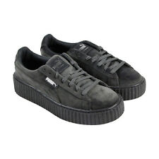 Puma Creeper Velvet Womens Gray Textile Lace Up Sneakers Shoes