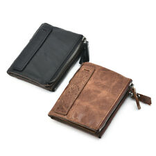 Vintage High Capacity Men Genuine Leather Cowhide Wallet Coin Purse Card Holder