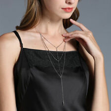 Fashion Multilayer Summer Choker Necklace Trendy Bamboo Chain Pendant Jewelry
