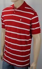 Polo Ralph Lauren Red White Striped Classic Fit Mesh Shirt White Pony NWT