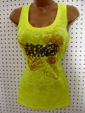 nwt HARLEY DAVIDSON *Fuel Your Passion* Bright Yellow Burnout Tank Top Shirt