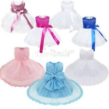 Princess Baby Flower Girls Floral Bow Wedding Birthday Party Pageant Tutu Dress