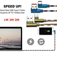 L Shape 90 Degree Camo Micro USB Type-C Charger Cable For iPhone 6 7 Android