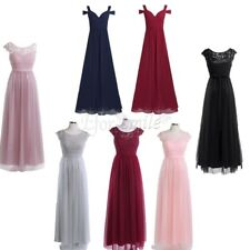 Women's Chiffon Side Split Long Bridesmaid Dress Formal Evening Prom Dresses