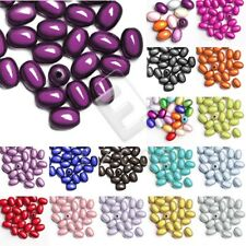 10pcs/25pcs Acrylic Oval Miracle Beads Loose Illusion 19x13.5mm/11x8mm Hot