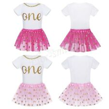 Baby Girl Romper Bodysuit+Tutu Skirt Dress Clothes Outfit 1st One Birthday Party