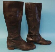 Womens Bandolino Leather Zip Up Brown Riding/Fashion Boots Sz 11M