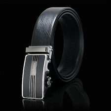Automatic Buckle Belt Genuine Leather Mens Belts Causual Waistband Straps 895