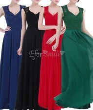 Women Formal Wedding Bridesmaid Dress Lace Long Evening Party Ballgown Cocktail