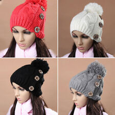 Women Ladies Beanie Winter Warm Skull Baggy Ski Chic Crochet Knit Beanie Hat Cap