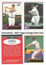 2011 Topps Lineage Baseball Set ** Pick Your Team **
