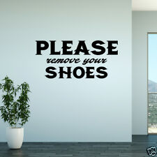Wall Decal Please Remove Your Shoes Vinyl Sticker Wall Art Home Decor GD667