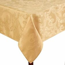 Assorted Sizes Brown, Beige, Green, Red Venetian Scroll Damask Fabric Tablecloth